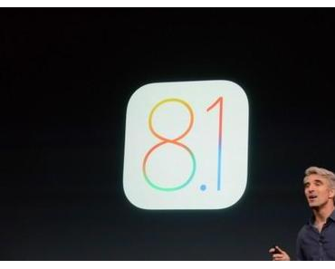 Download iOS 8.1 für iPhone 6, iPad Air 2 am Montag