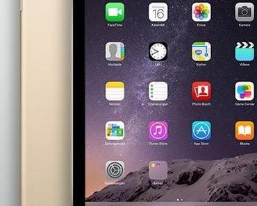 iPad Air 2: noch dünner, A8X Prozessor, Touch ID, Gold Option