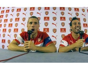 Podolski & Carzola kommentieren FC Arsenal London vs. West Ham