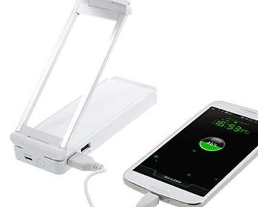 Die 2 in 1 LED Schreibtischlampe Power Bank für Tablets und mehr