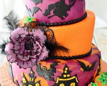 """Topsey Turvy Halloween Cake, bunte Herbstlaub Kekse und Erdnuss Cupcakes und """"MeinCupcake.de"""""""