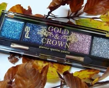 """[Swatch] p2 Gold&Crown LE Glamour Sparkles Palette """"020 Fancy Girl"""""""