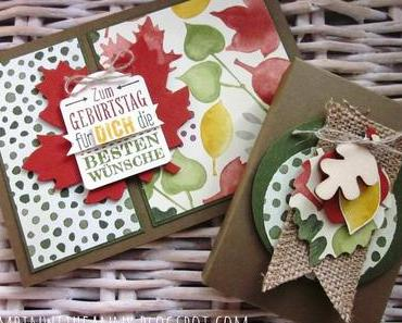 Herbstbox mit Envelope Punch Board