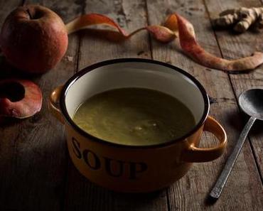 Apfel-Sellerie-Suppe (vegan)