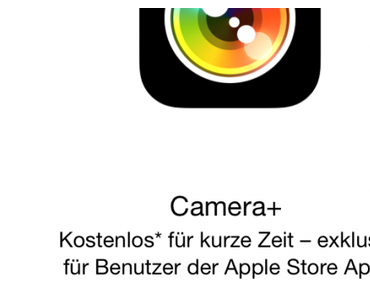 Download: Camera+ App kostenlos in der Apple Store App