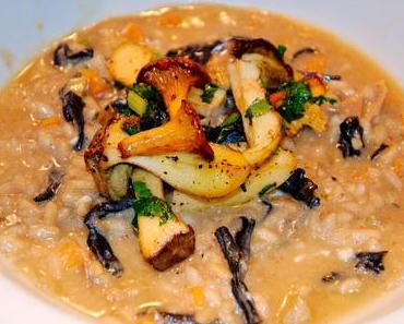 Herbstpilz Risotto