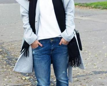 Ready For November Outfit With Another Boyfriend Jeans