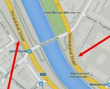 Maps Google geht in Wien baden