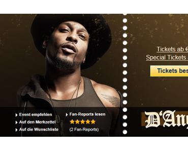 +++ Eilmeldung +++ D'Angelo kommt auf Europa-Tournee +++ Ticketverkauf hat begonnen +++