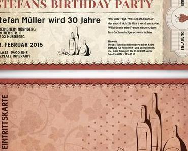 Besondere Einladungskarten zum Geburtstag