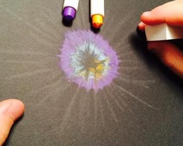 Bunte Feuerwerke auf Papier: Malen mit Neocolor