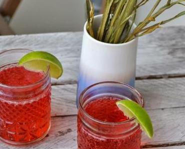 Spritziger Himbeer-Limetten Gin Tonic