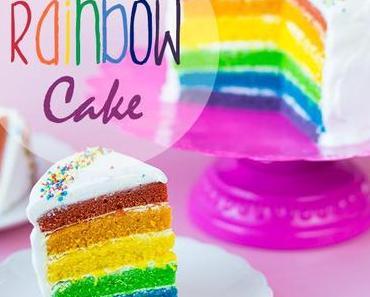 Rainbow Cake – ein Kuchen so bunt wie ein Regenbogen ^^ (vegan)