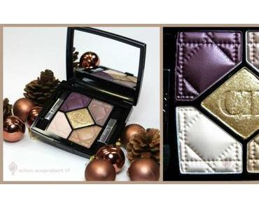 Review -> Lidschattenpalette, Lipgloss und Highlighter aus der DIOR Golden Shock Christmas Look 2014