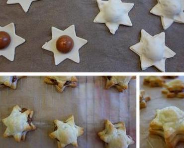 Toffifee-Sterne aus Blätterteig