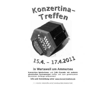 Süddeutsches Konzertina-Treffen in Wartaweil am Ammersee