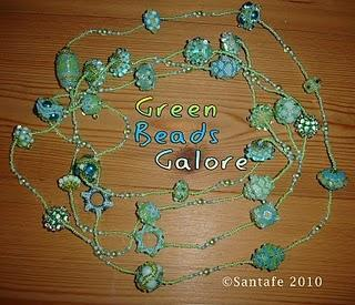 Green Beads Galore!