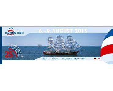 Ostsee, 18119 Warnemünde: Hanse Sail Rostock 6. bis 9. August 2015