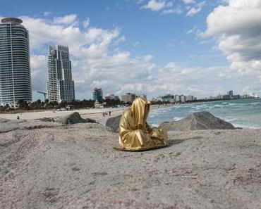 Very south part or Miami Beach, Florida, USA Guardians of Time by Manfred Kielnhofer contemporaryfine art arts design sculpture plastic statue
