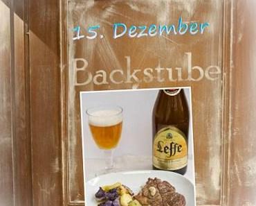 Adventskalender 2014 – Nr. 15: Rosenkohl im Bierteig, Wildschweinsteak und Pommes Frites