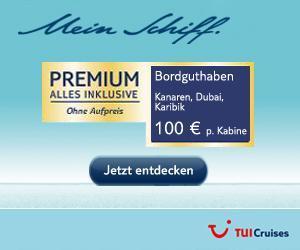 Mein Schiff:  Weihnachtsangebot der Woche von Tui-Cruises +++ Bordguthaben Spezial +++100 Euro