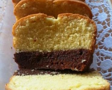 Brownie-Sand-Kuchen (2-in-1-Kuchen)
