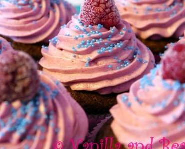 Peach & Raspberry Cupcakes | Himbeer-Pfirsich-Cupcakes *vegan*