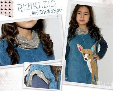 Kuschliges Kleid Reh: Upcycling aus Decke mach' Kleid