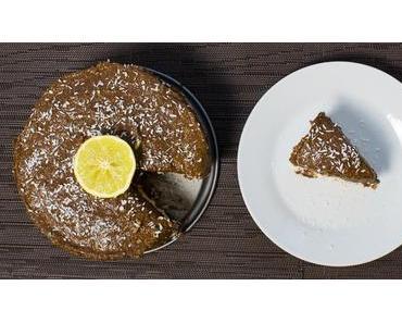 Nur 3+3 Zutaten für eine rohe Pflaumenmus-Kokos-Torte