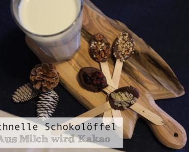 Schnelle Schokolöffelchen - und aus Milch wird Kakao