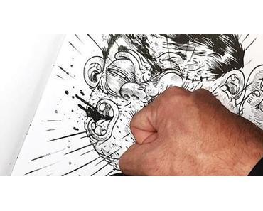Inkteration: Zeichner quält seine Zeichnungen