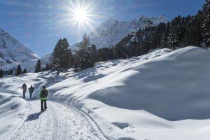 Wandern kann man auch im Winter