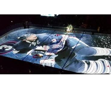 On Ice Projection beim NHL-Team Toronto Maple Leafs