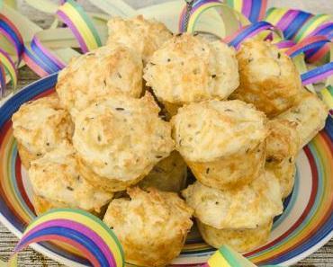 Ideen für die Fasnachtsparty: Mini Muffins mit Käse und Kümmel