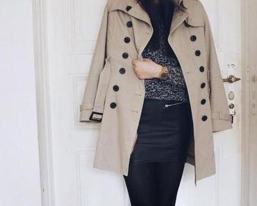 OOTD: Leather + Trench