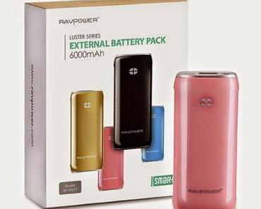 RAVPOWER External Battery Pack 6000mAh | Model RP-PB17