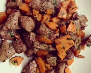Geröstete Leber mit Karotte ( Hundefutter )
