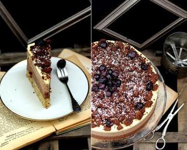 3 Sorten locker-luftiges Mousse au Chocolat in einer Torte - völliges dahinschmelzen garantiert!
