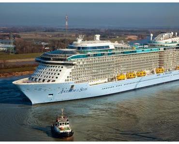 Anthem of the Seas auf dem Weg nach Hamburg: Kreuzliner geht noch mal ins Dock