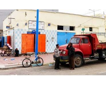 Marokko: Windpark und parken im Wind