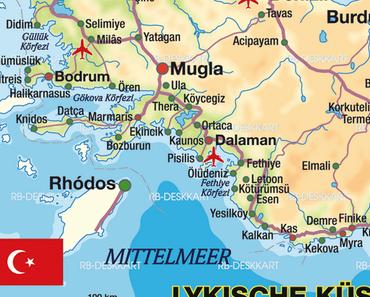 Die lykische Küste erobert fünf Frauen