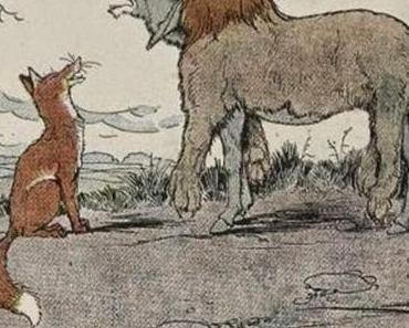 Vom Fuchs und vom Esel im Löwenfell - Fabel von Aesop