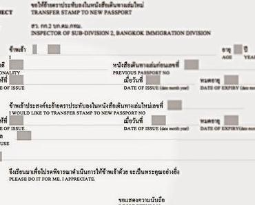 Bitte machen sie das für mich, ich schätze es - Verlängerung Aufenthaltsbewilligung Thailand
