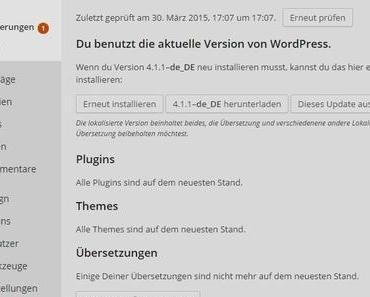 WordPress 4.1.1 Übersetzungen immer wieder neu aktualisieren
