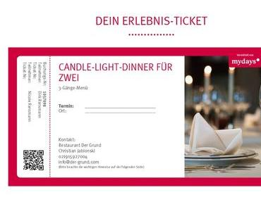Erlebnisse mit mydays.de: Candle-Light-Dinner bei »Der Grund«