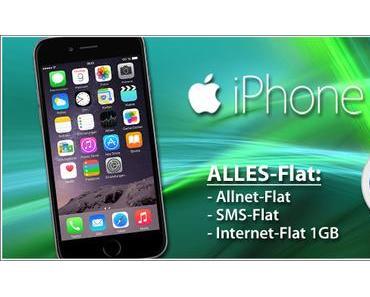 Mobilfunk Angebot: Apple iPhone 6 inkl. Allnet Flat+1 GB für 34,99,-€ mtl.!