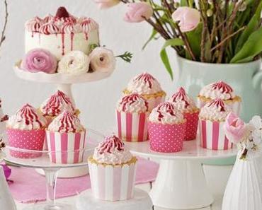 Alles so schön rosa hier { Topfentörtchen und Zitronencupcakes }