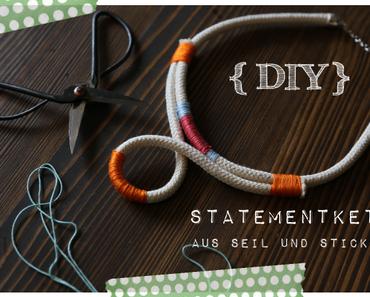 DIY | Statementkette aus Seil und buntem Sticktwist