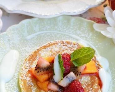 Buttermilch-Pancakes am Morgen vertreiben Kummer und Sorgen!