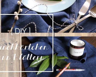 DIY | Fixe Platzkärtchen aus Blättern
